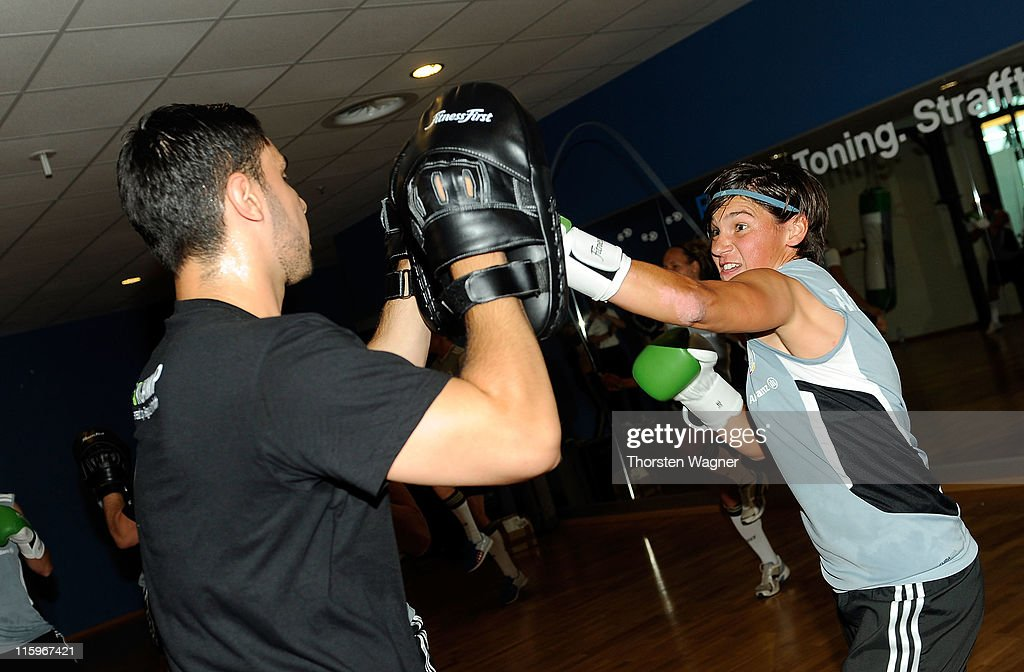 Germany Boxing Exercise With Regina Halmich - FIFA Women's World Cup 2011 : News Photo