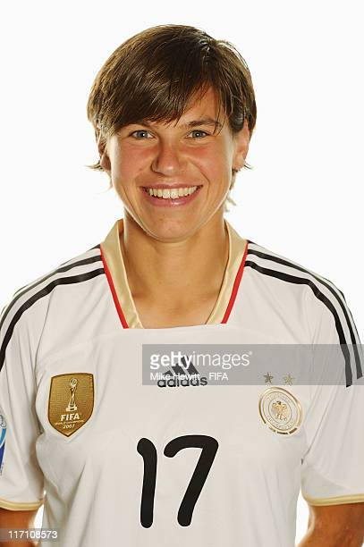 Ariane Hingst of Germany poses during the FIFA portrait session on June 22 2011 in Berlin Germany