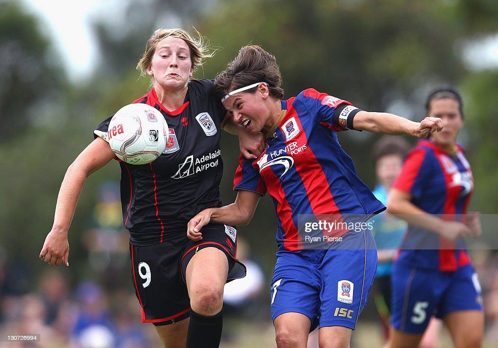 W-League Rd 2 - Newcastle v Adelaide : News Photo