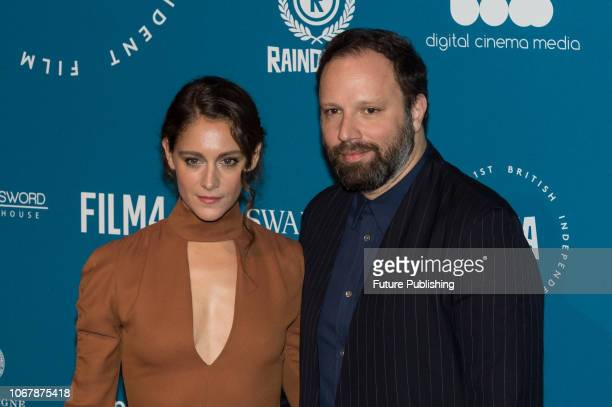 Ariane Labed and Yorgos Lanthimos attend the 21st British Independent Film Awards at Old Billingsgate in the City of London December 02 2018 in...