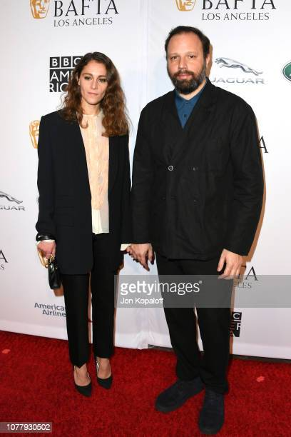 Ariane Labed and Yorgos Lanthimos attend The BAFTA Los Angeles Tea Party at Four Seasons Hotel Los Angeles at Beverly Hills on January 5 2019 in Los...
