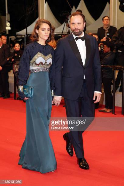 Ariane Labed and Yorgos Lanthimos attend the screening of The Whistlers during the 72nd annual Cannes Film Festival on May 18 2019 in Cannes France