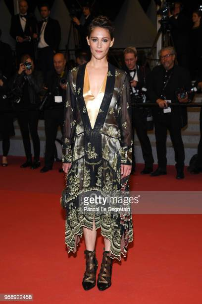 Ariane Labed attends the screening of Under The Silver Lake during the 71st annual Cannes Film Festival at Palais des Festivals on May 15 2018 in...