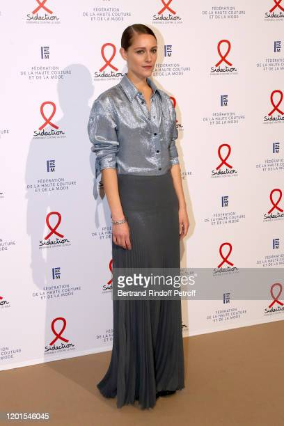 Ariane Labed attends the Sidaction Gala Dinner 2020 at Pavillon Cambon on January 23, 2020 in Paris, France.