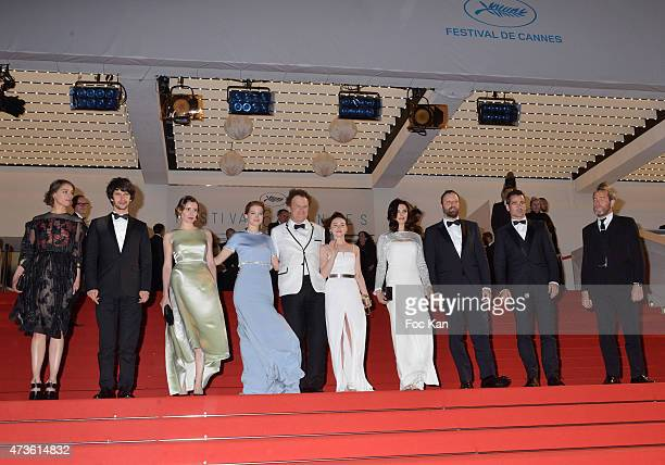 Ariane Labed Ben Whishaw Angeliki Papoulia Lea Seydoux John C Reilly Jessica Barden Rachel Weisz and Yorgos Lanthimos leave the 'Lobster' Premiere...