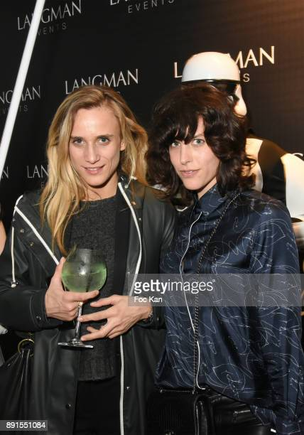 Ariane Lambroppulos and Athena Zelcovich attend the Star Wars Party at Le Saint Fiacre on December 12 2017 in Paris France