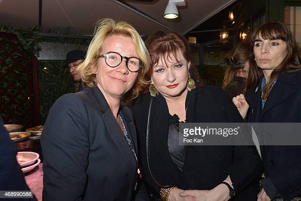 Ariane Massenet and Catherine Jacob attend 'La Closerie Des Lilas' Literary Awards at La Closerie des Lilas on April 8 2015 in Paris France