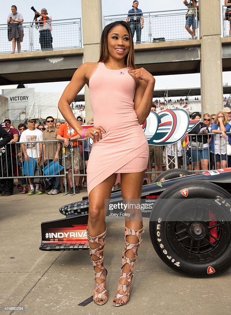 Ariane Nicole Andrew aka WWE Diva Cameron attends the 2015 Indy 500 at Indianapolis Motorspeedway on May 24, 2015 in Indianapolis, Indiana.
