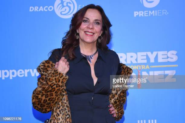 Ariane Pellicer poses for photos during a red carpet as part of the film 'Mirreyes vs GodÌnez' on January 22 2019 in Mexico City Mexico