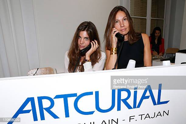 Ariane Poniatowski and her daughter Victoria attend 'Arty Bike' Auction to benefit Association des Tout P'tits at Artcurial on June 20 2013 in Paris...