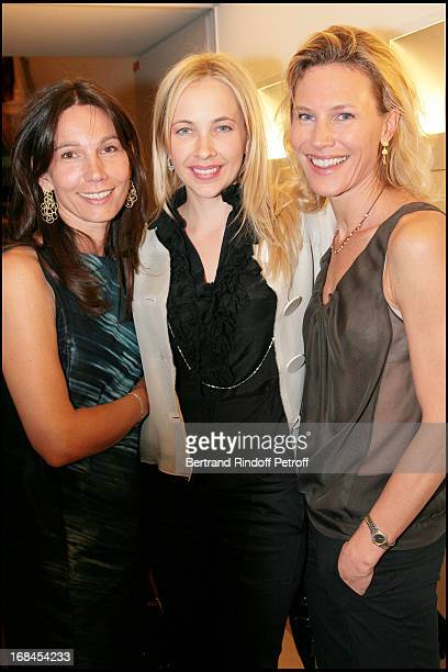 Ariane Poniatowski Melonie Hennessy and Grace Borletti at 'Art Toy' Benefit Auction At Christie's For Association 'Paris Tout P'Tits'