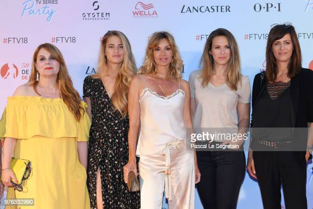 Ariane Seguillon Solene HebertIngrid Chauvin Lorie Pester and Anne Caillon attend Soiree Serie TV during the 58th Monte Carlo TV Festival on June 16...
