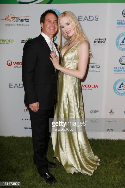 Ariane Sommer and Clay Kahler attend the Clean Tech Media Award at Tempodrom on September 7 2012 in Berlin Germany