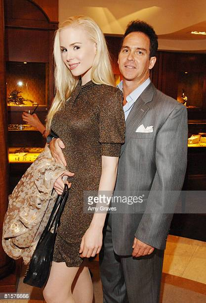 Ariane Sommer and Clay Kahler attends The Roberto De Villacis Viewing and Coctail Party on June 7 2008 in Beverly Hills California