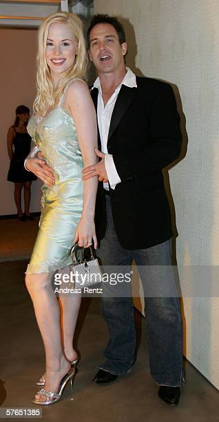 Ariane Sommer and her friend Clay Kahler attend at the Magnum ice cream birthday party on May 18 2006 in Berlin Germany