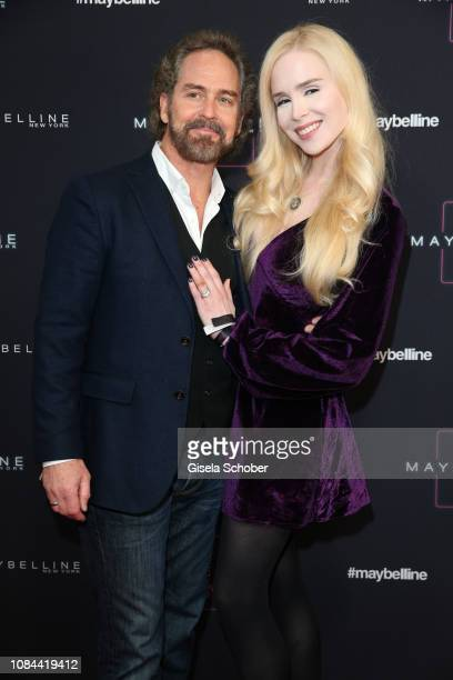 Ariane Sommer and her husband Clay Kahler at the Maybelline New York show 'Makeup that makes it in New York' during the Berlin Fashion Week...