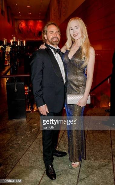 Ariane Sommer and her husband Clay Kahler during the 10th Laughing Hearts Charity Gala at Grand Hyatt Hotel on November 24 2018 in Berlin Germany