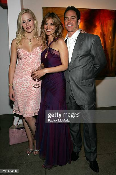 Ariane Sommer Samantha Keely Smith and Clay Kahler attend Rites of Passage Exhibit of the Paintings of Samantha Keely Smith to Benefit the Montel...