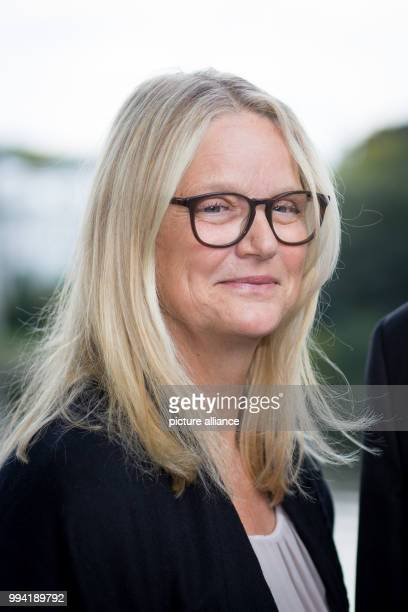 Ariane Springer granddaughter of publisher Axel Springer participates in a senate breakfast in the guest house of the senate at the Alster river in...