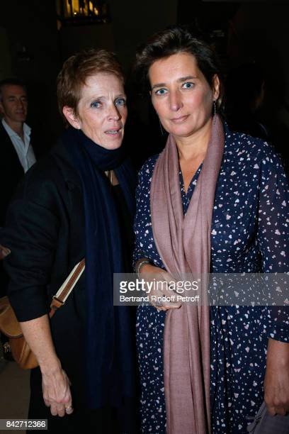 Ariane Toscan du Plantier and Director of Gaumont Sidonie Dumas Seydoux attend the Barbara Paris Premiere at Cinematheque Francaise on September 4...