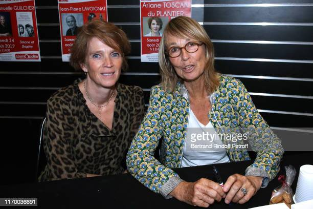 Ariane Toscan du Plantier and Francoise Nyssen attend a book singning during the 12th Angouleme FrenchSpeaking Film Festival Day Five on August 24...