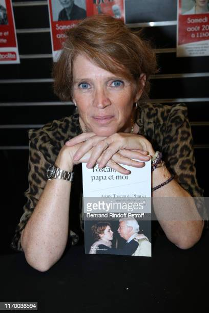 Ariane Toscan du Plantier with her book Toscan Papa et moi attends a book singning during the 12th Angouleme FrenchSpeaking Film Festival Day Five on...