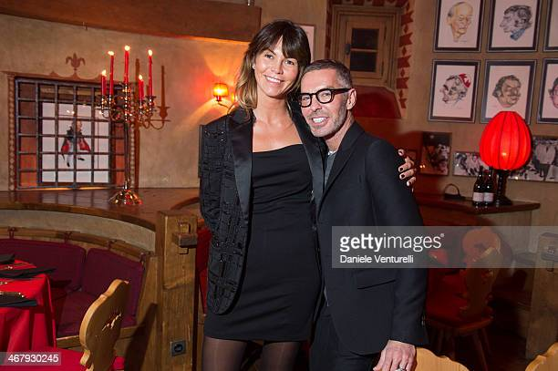Arianna Alessi and Dean Caten attend the private dinner Host Dean and Dan Caten of Dsquared2 at Dracula's Club in St. Moritz on February 8, 2014 in...