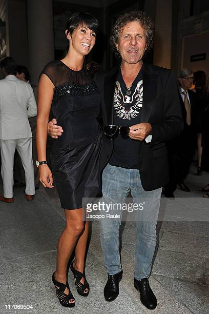 Arianna Alessi and Renzo Rosso attend Marcolin Eyewear 50th Anniversary on June 20, 2011 in Milan, Italy.