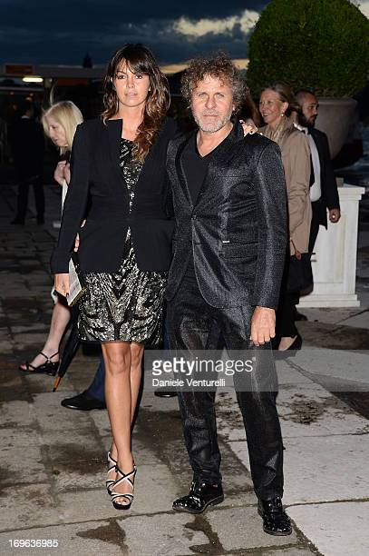 Arianna Alessi and Renzo Rosso attend the Dinner At 'Fondazione Cini, Isola Di San Giorgio' during the 2013 Venice Biennale on May 29, 2013 in...