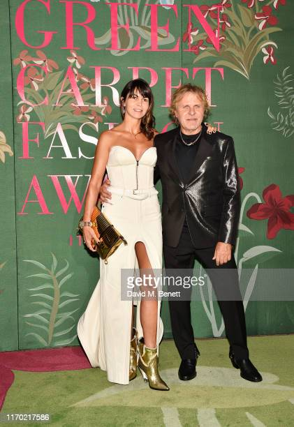 Arianna Alessi and Renzo Rosso attend The Green Carpet Fashion Awards Italia 2019 hosted by CNMI EcoAge at Teatro Alla Scala on September 22 2019 in...