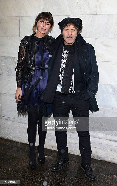 Arianna Alessi and Renzo Rosso attend the Just Cavalli fashion show during Milan Fashion Week Womenswear Fall/Winter 2013/14 on February 21, 2013 in...