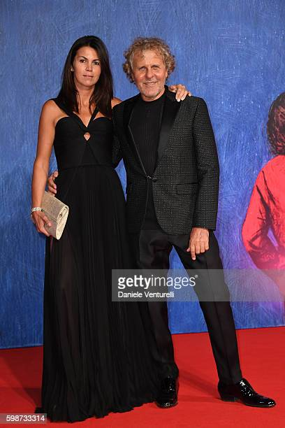Arianna Alessi and Renzo Rosso attend the premiere of 'Franca: Chaos And Creation' during the 73rd Venice Film Festival at Sala Giardino on September...