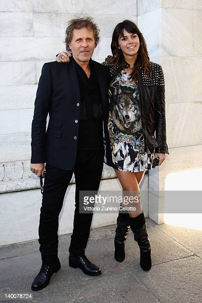 Arianna Alessi and Renzo Rosso attend the Roberto Cavalli Autumn/Winter 2012/2013 fashion show as part of Milan Womenswear Fashion Week on February...