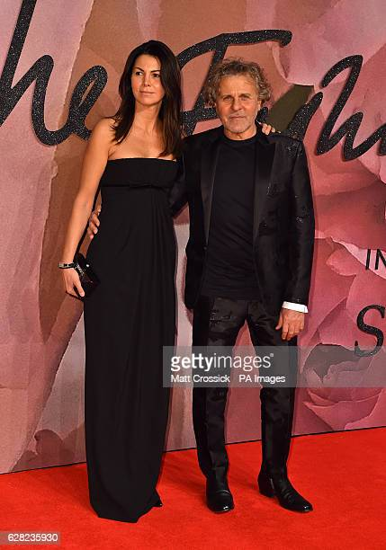 Arianna Alessi and Renzo Rosso attending The Fashion Awards 2016 at the Royal Albert Hall, London. PRESS ASSOCIATION Photo. Picture date: Tuesday...