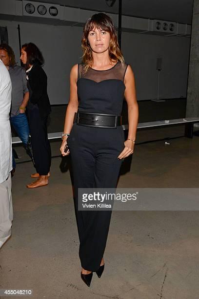 Arianna Alessi backstage at the MM6 Maison Martin Margiela presentation during MercedesBenz Fashion Week Spring 2015 at Skylight Modern on September...
