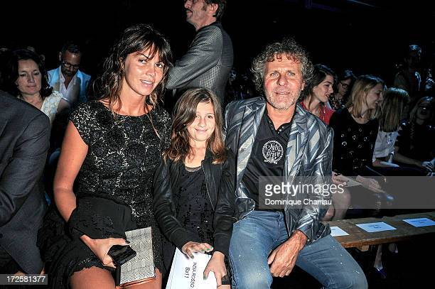 Arianna Alessi guest and Renzo Rosso attend the ViktorRolf show as part of Paris Fashion Week HauteCouture Fall/Winter 20132014 at la Gaite Lyrique...