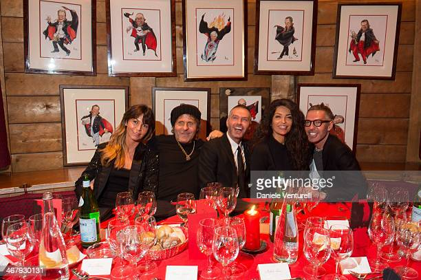 Arianna Alessi Renzo Rosso Dan Caten Afef Jnifen and Dean Caten attend the private dinner Host Dean and Dan Caten of Dsquared2 at Dracula's Club in...