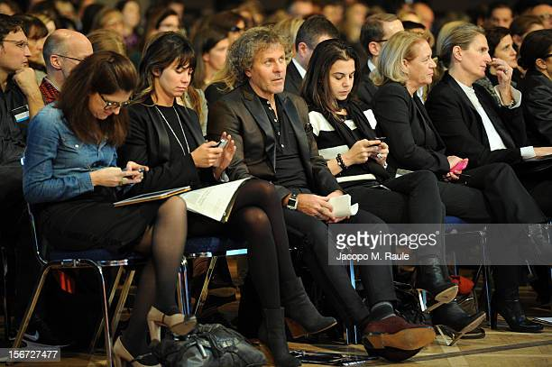 Arianna Alessi Renzo Rosso Diesel Founder and guests attend the third day of the 2012 International Herald Tribune's Luxury Business Conference held...