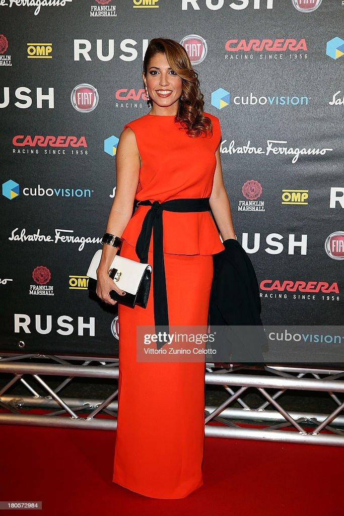 Arianna Bergamaschi attends 'Rush' The Movie Rome Premiere at Auditorium della Conciliazione on September 14, 2013 in Rome, Italy.