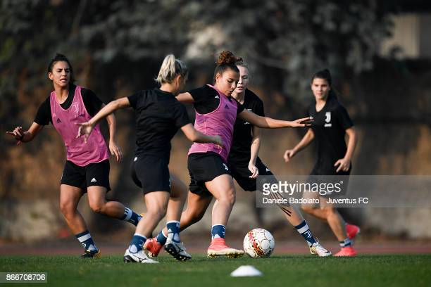 Arianna Caruso during a Juventus Women training session on October 26 2017 in Turin Italy