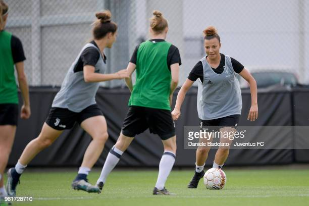 Arianna Caruso during the Juventus Women training session on May 23 2018 in Turin Italy