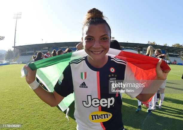 Arianna Caruso of Juventus Women celebrates the victory after the Italian Supercup match between Juventus Women and Fiorentina Women at Orogel...