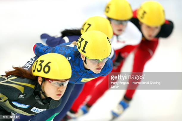 Arianna Fontana of Italy in action during the Ladies' 1500m Final on day two of the ISU World Short Track Speed Skating Championships at the...