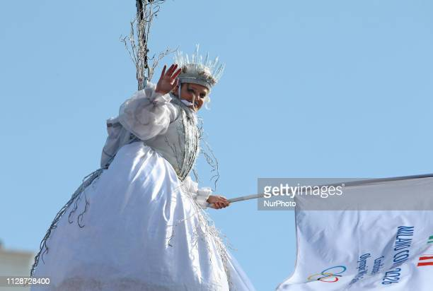 Arianna Fontana performs during the event of the Eagle Flight during the Venice Carnival on March 03 2019 in Venice Italy The theme for the 2019...