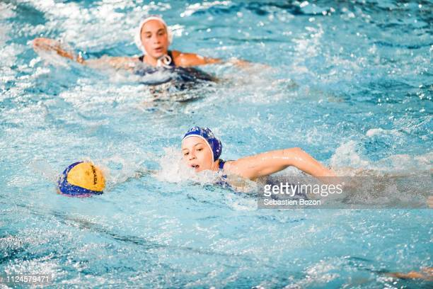 Arianna Garibotti of Italia during the Women's International Match Water Polo match between France and Italy on February 12 2019 in Mulhouse France