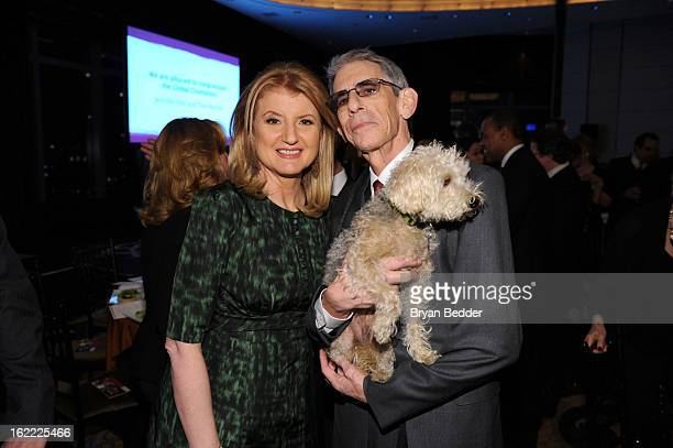 Arianna Huffington and Actor Richard Belzer attends the Elizabeth Glaser Global Champions of a Mothers Fight Awards Dinner at Mandarin Oriental Hotel...