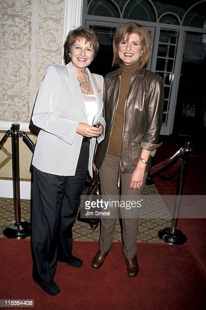 Arianna Huffington and Christina Ferrare during Red Carpet Diamond Collection Unveiled At In Style Luncheon at Four Seasons Hotel in Beverly Hills CA...