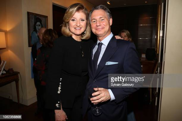 Arianna Huffington and Jason Binn attend Book Launch Party For AI Superpowers By KaiFu Lee Hosted By Arianna Huffington at Private Residence on...