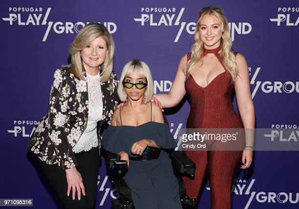 Arianna Huffington and models Jillian Mercado and Iskra Lawrence attend day 2 of POPSUGAR Play/Ground on June 10 2018 in New York City