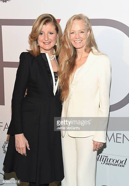 Arianna Huffington and Suzy Amis Cameron attend the Fashion 4 Development's 6th Annual Official First Ladies Luncheon on September 21 2016 in New...